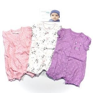 Simple Joys by Carters 3 Pack Snap Up Rompers 0-3M